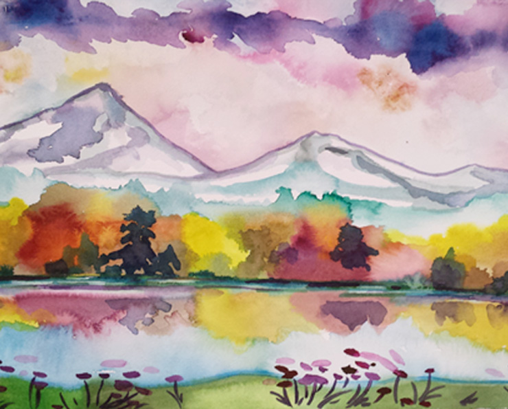 Painting Come paint with us spring reflections watercolor class