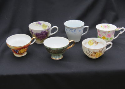 China tea cups Grass Valley area event for rent