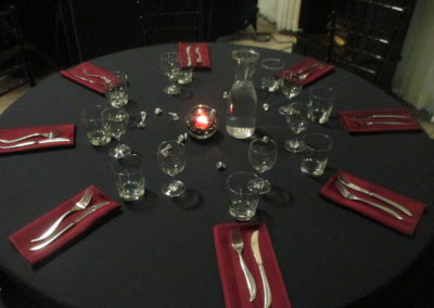 Romantic table service rental Grass Valley