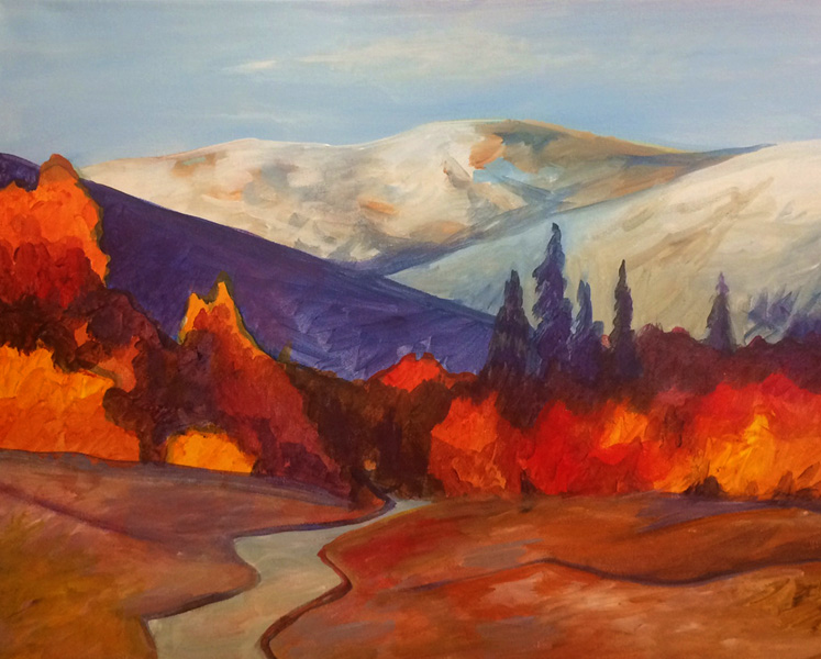 Come Paint With Us High Sierra Acrylic Class