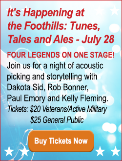 happening at the foothills tunes tales ales Dakota Sid