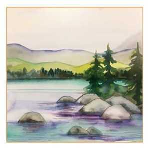 Tahoe shore paint and sip class